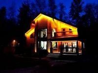 Архитектурное освещение частных коттеджей. освещение фасадов зданий