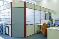 Бизнес-крепость. офисное пространство. применение офисных перегородок