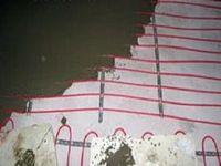 Монтаж в бетонной стяжке теплого пола, на основе нагревательного мата
