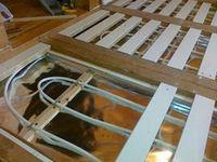 Монтаж в бетонной стяжке теплого пола, на основе нагревательного кабеля