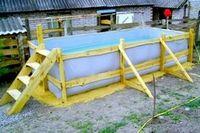 Надувной бассейн для дачи — и выкупаться и огород полить