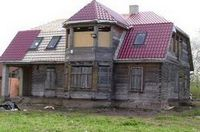 Облицовка фасада деревянного дома плиткой