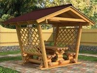 Отделка беседки и садовой мебели для дачи