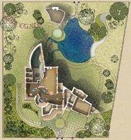 План дома на местности