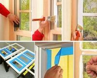 Покраска деревянных конструкций - покраска оконных рам, деревянных ворот, дверей, заборов