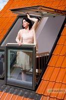 Преображение мансарды с окнами fakro