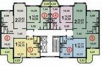 Пример перепланировки трехкомнатной квартиры