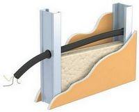 Прокладка электрической проводки перед облицовкой гипсокартонными плитами