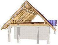 Сделать двухскатную крышу. часть 2